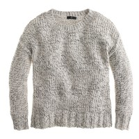 Marled drop-shoulder sweater