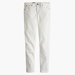 Petite toothpick jean in white