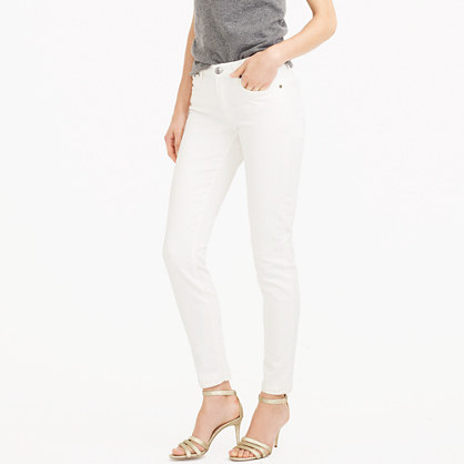 "8"" toothpick jean in white"