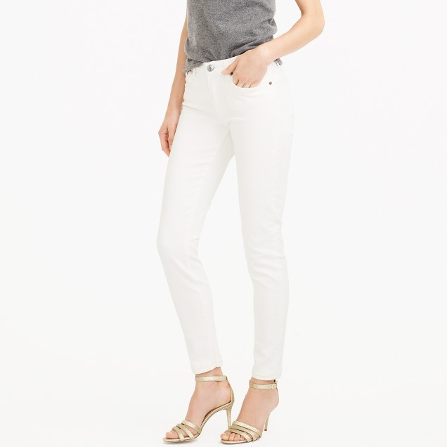 "Tall 8"" toothpick jean in white"