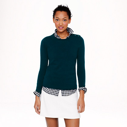 Anchor-button sweater