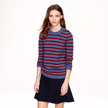 Anchor-button sweater in stripe