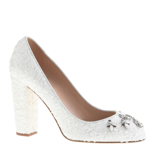 Collection Etta jeweled sequin pumps