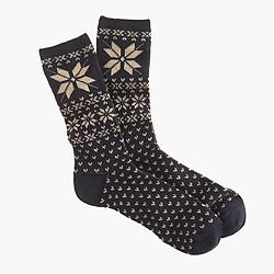 Snowflake Fair Isle trouser socks