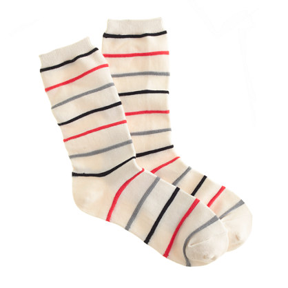 Color-stripe trouser socks