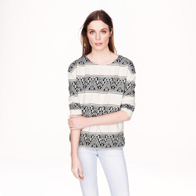 Jacquard-stripe sweatshirt