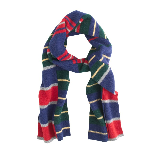 Drake's® patchwork stripe scarf