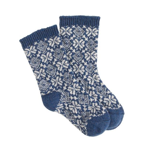Boys' Fair Isle camp socks