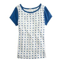 Vintage cotton cap-sleeve tee in dot
