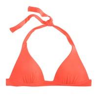 Neon sculpted halter bikini top