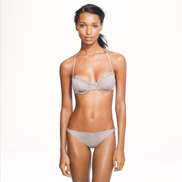 Jersey Lomellina® ruched underwire top