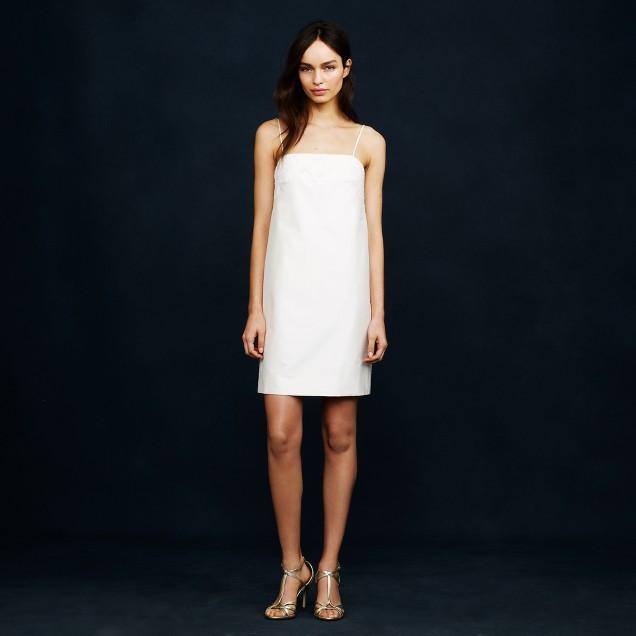 Lace-trim mini-dress