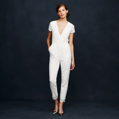 Eyelash lace jumpsuit