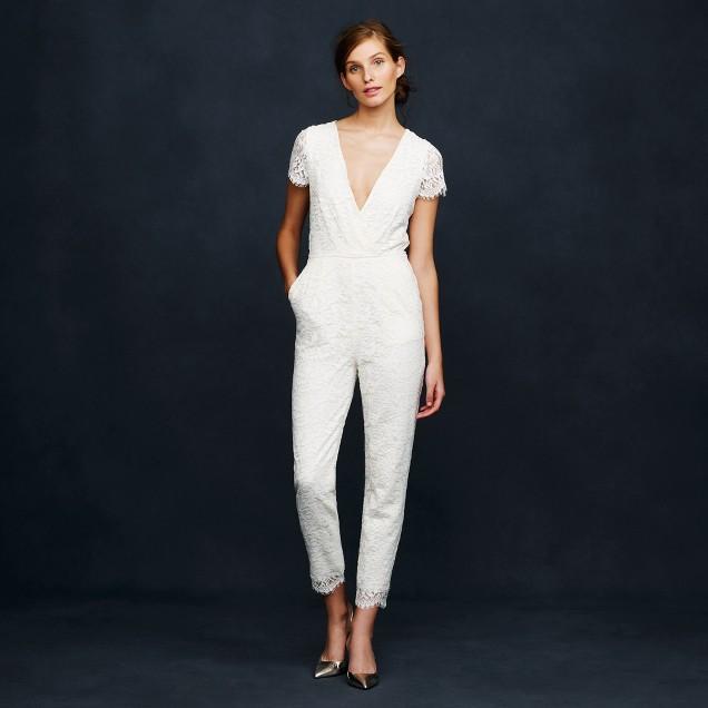 Eyelash lace jumpsuit