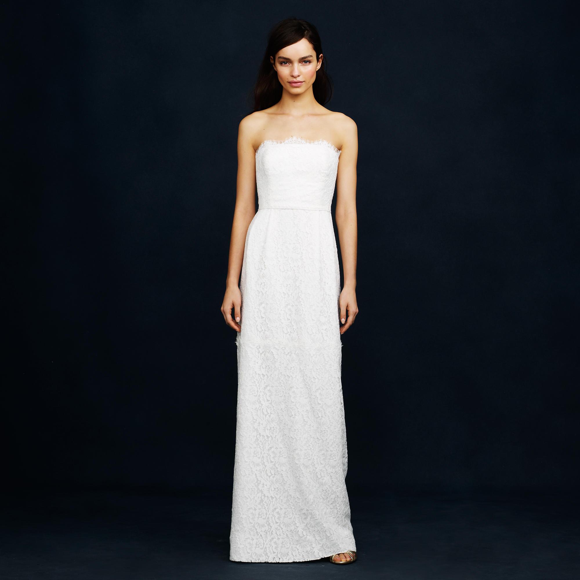 J Crew Simple Wedding Dresses: Eyelash Lace Gown :