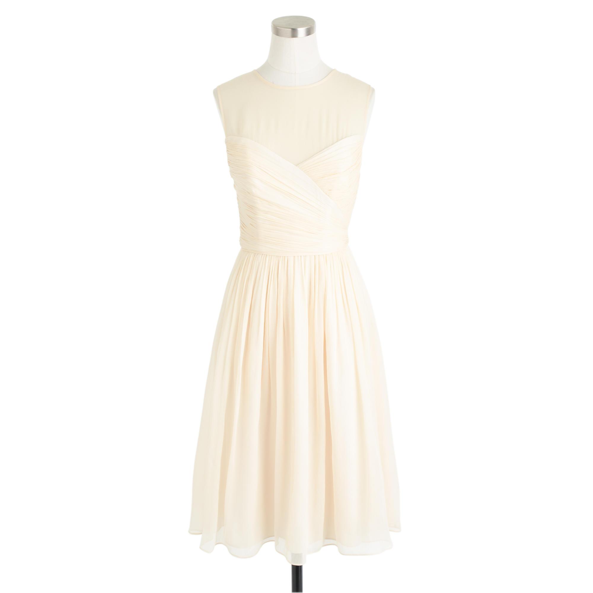 Clara dress in silk chiffon wedding sizes 16 to 20 j crew for J crew wedding dress size chart