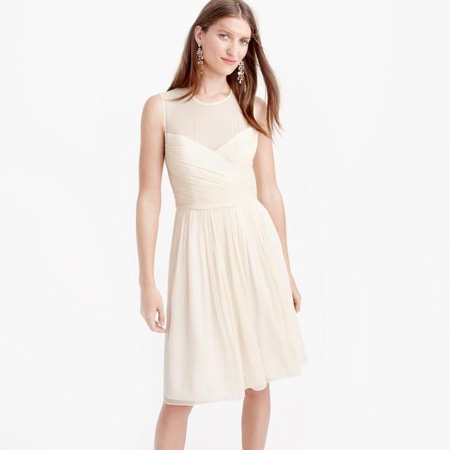 Petite Clara dress in silk chiffon