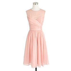 Petite Clara dress in silk chiffon
