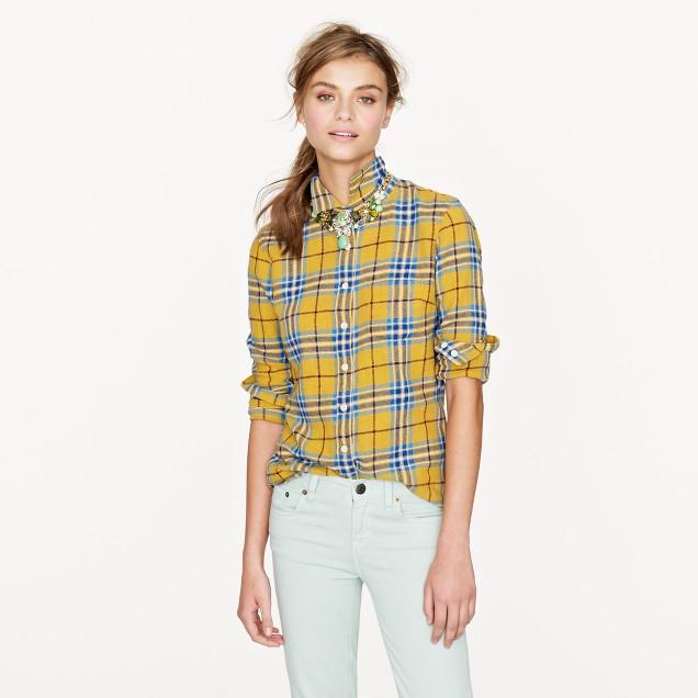 Boy shirt in flannel