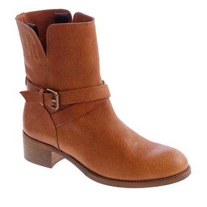 Ryder short leather buckle boots