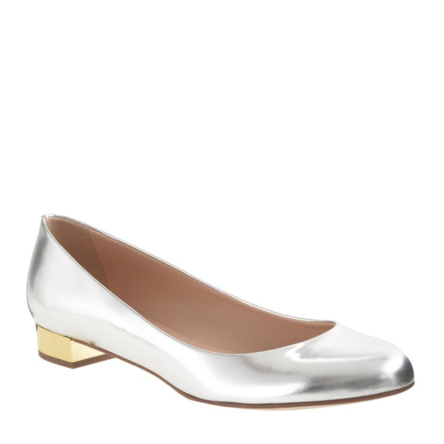 Janey metallic flats