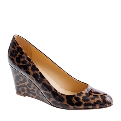 Martina leopard wedges