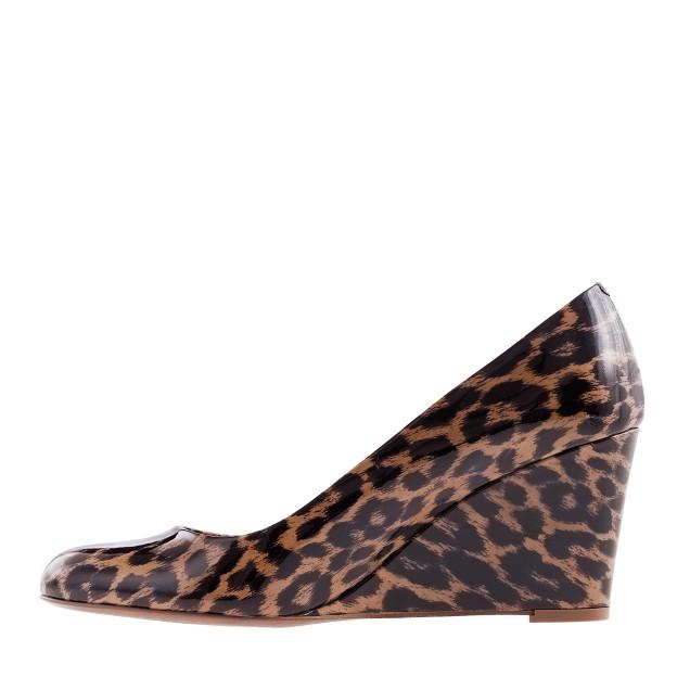 Martina leopard wedges