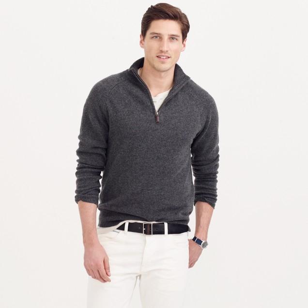 Italian cashmere half-zip sweater