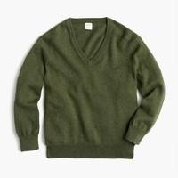 Boys' cotton-cashmere V-neck sweater