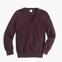 Boys' cotton-cashmere V-neck sweater
