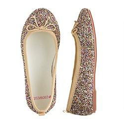 Girls' classic glitter ballet flats