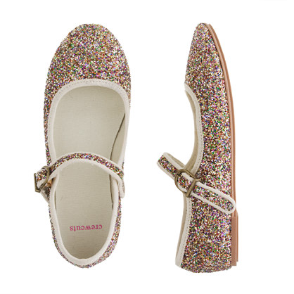 Girls' glitter Mary Janes