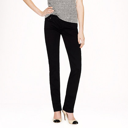Tall matchstick jean in pitch black wash