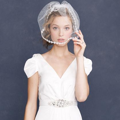 Eyelash lace veil