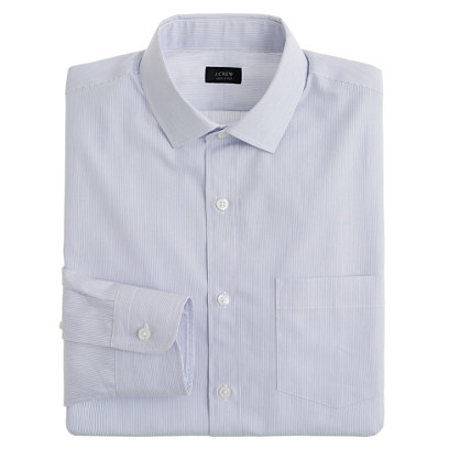 Classic spread-collar shirt in atlantic stripe