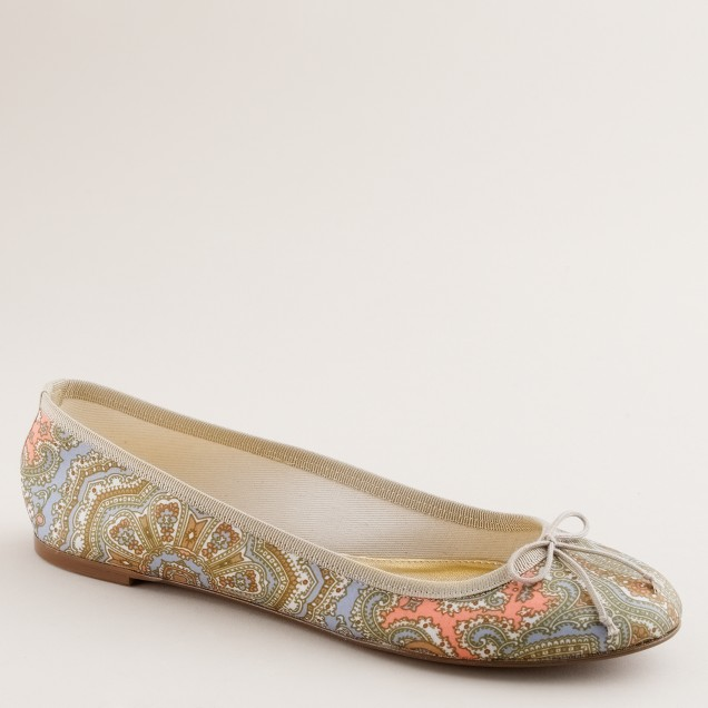 Patterned classic ballet flats