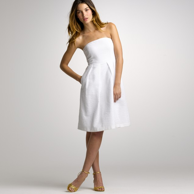 Embossed-cotton Lorelei dress