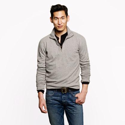 Reverse waffle half-zip sweatshirt