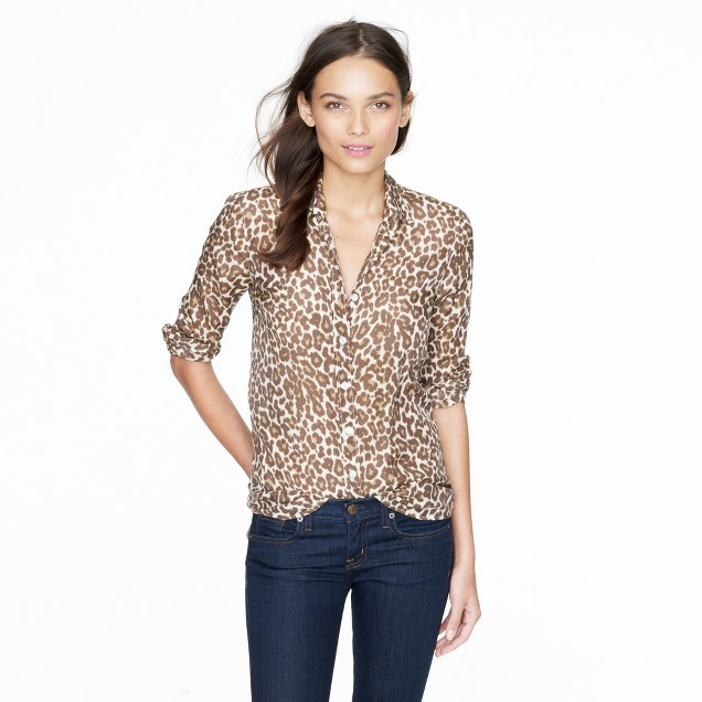 Perfect shirt in animal print