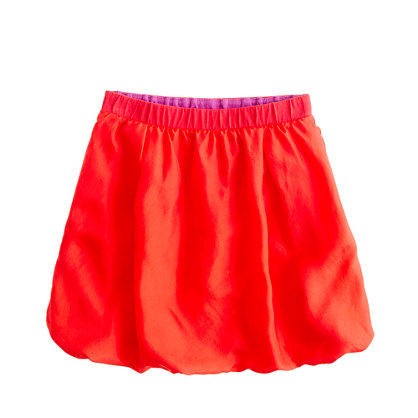 Girls' silk bubble skirt