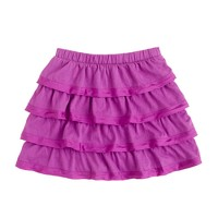Girls' sateen-trimmed cupcake skirt