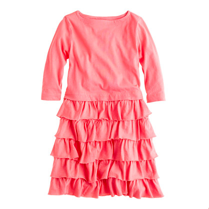 Girls' three-quarter sleeve cupcake dress