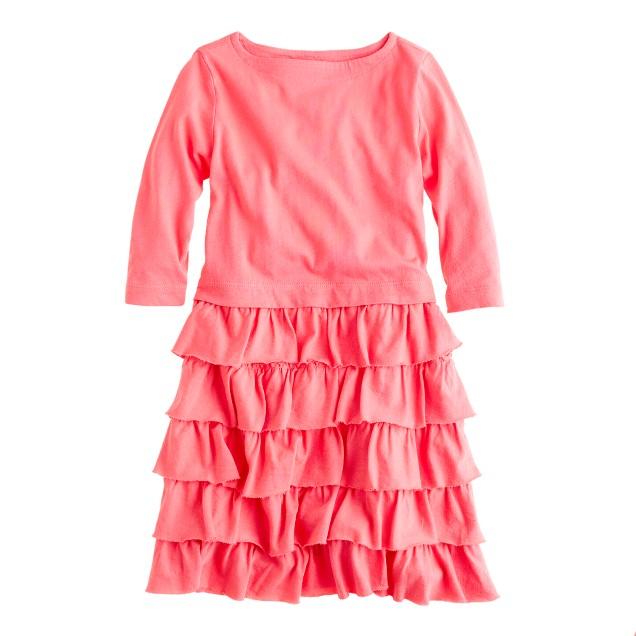 Girls' three-quarter sleeve cupcake dress
