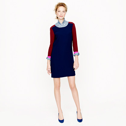 Collection colorblock shift dress