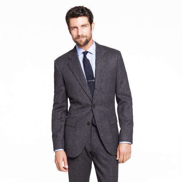 Ludlow Fielding three-button suit jacket in heathered English wool