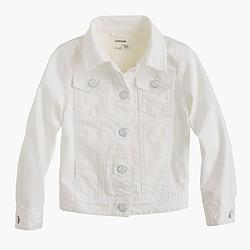 Girls' white denim jacket