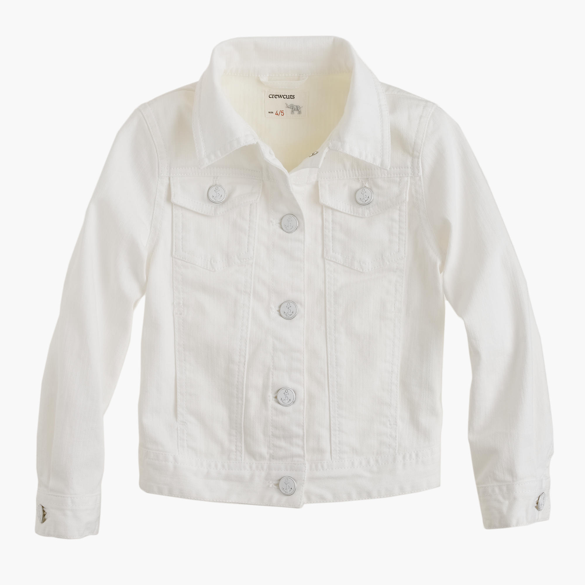 Girls' White Denim Jacket : Girls' Jackets | J.Crew