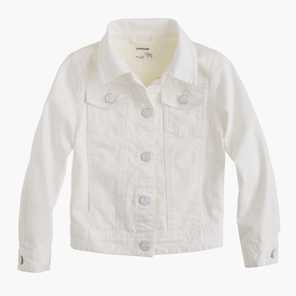 Girls' white denim jacket