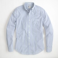 Factory washed shirt in traditional tattersall