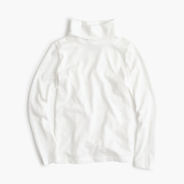 Girls' turtleneck T-shirt